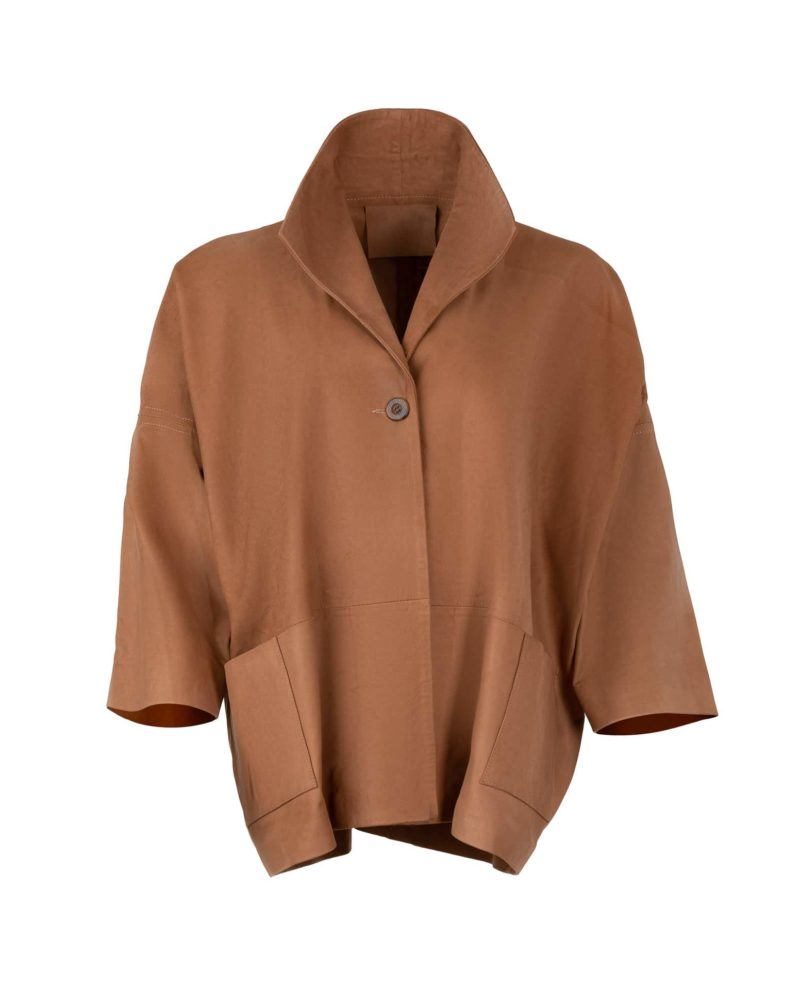 GSTAAD LEATHER JACKET CAMEL