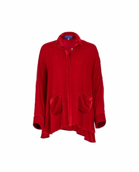 Marina Anouilh Gaby Shirt Red