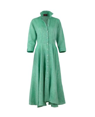 MARINA DRESS TENDER GREEN