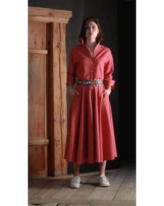 MARINA DRESS CORAL RED