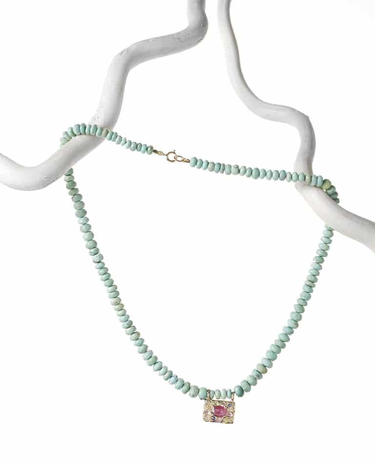 TURQUOISE NECKLACE RHAPSODY PINK