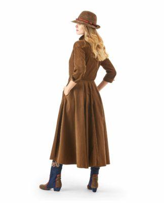 MARINA CORDUROY DRESS HAZEL