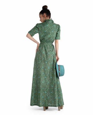 OLIVIA PANAMA DRESS GREEN